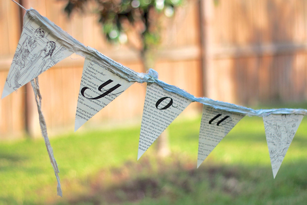 Upcycled-wedding-bunting-made-from-vintage-book-pages.full