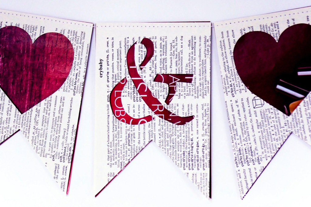 mr and mrs upcycled book page wedding sign