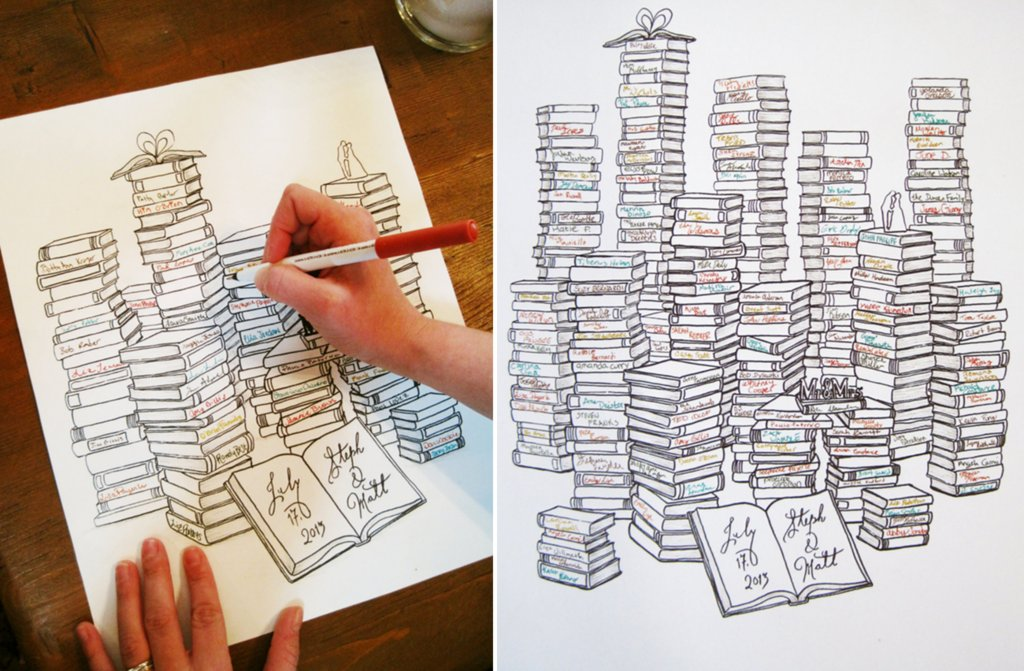 wedding guest book alternatives for book lovers