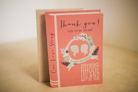 book lovers wedding thank you cards