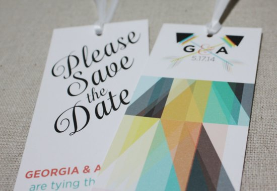 modern bookmark wedding save the dates
