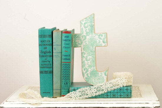 Vintage Books And Lace Wedding Table Decoration
