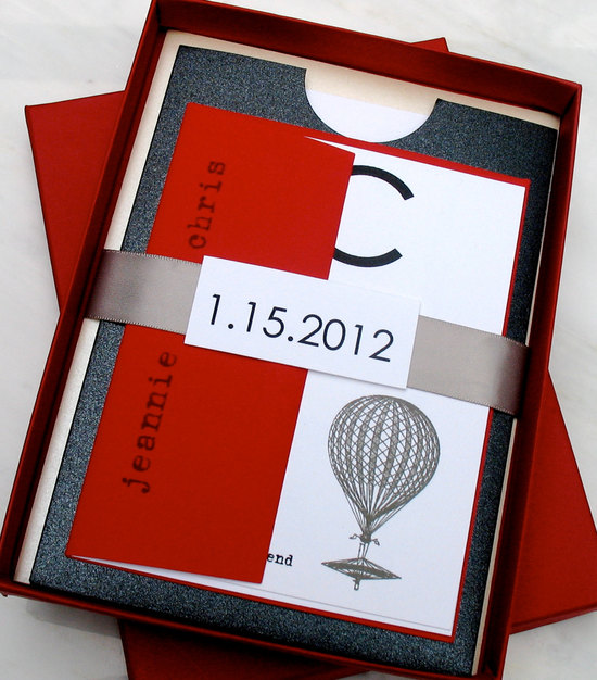 photo of Gorgeous red wedding invitations by Beacon Lane