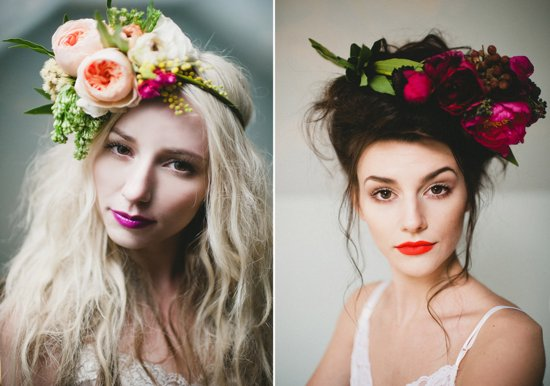 statement floral wedding headbands