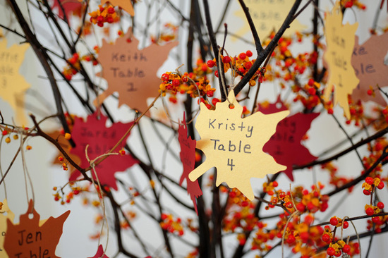 DIY Fall-Inspired Escort Cards