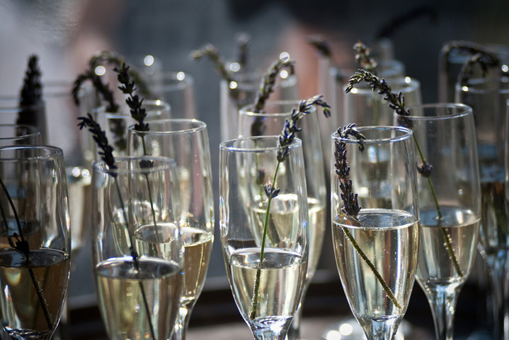 Lavender Champagne Toast