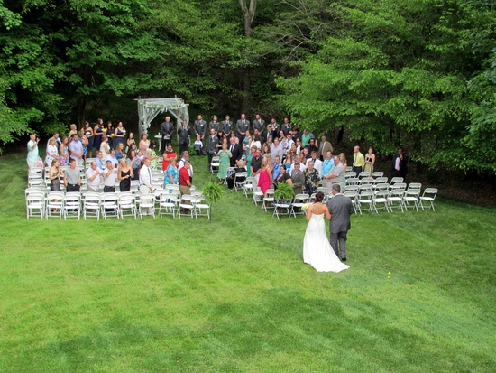 Back yard wedding at Whippoorwill Hill