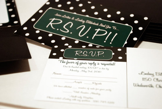 Chic Polka Dots Wedding Invitation Set