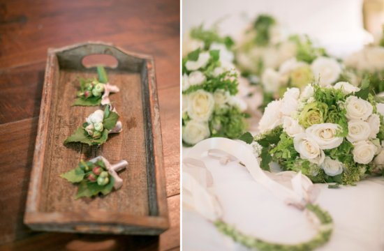 classic green and ivory wedding flowers