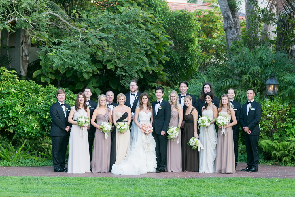 Romantic-timeless-wedding-at-the-four-seasons-modern-mix-and-match-bridesmaids.full