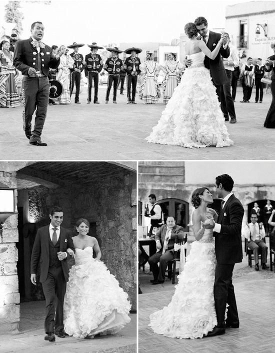 Destination bride and groom share first dance in Mexico