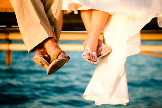 Waterfront Wedding Feet