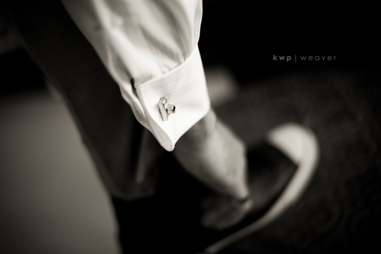 Dapper groom's cufflinks