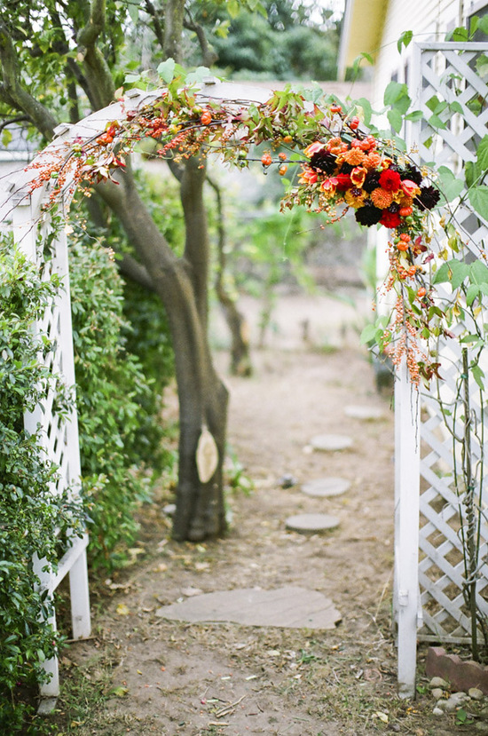 Fall perfect wedding ceremony arch