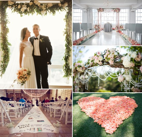 photo of Wow wedding ceremony aisles and altars