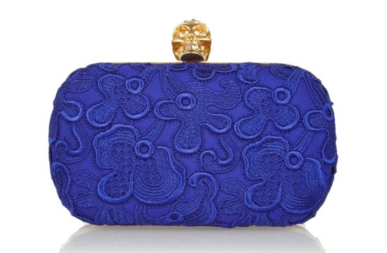 Elegant Blue statement wedding clutch