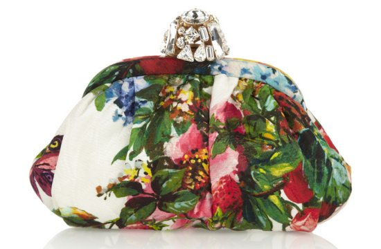 Floral Bridal statement wedding clutch