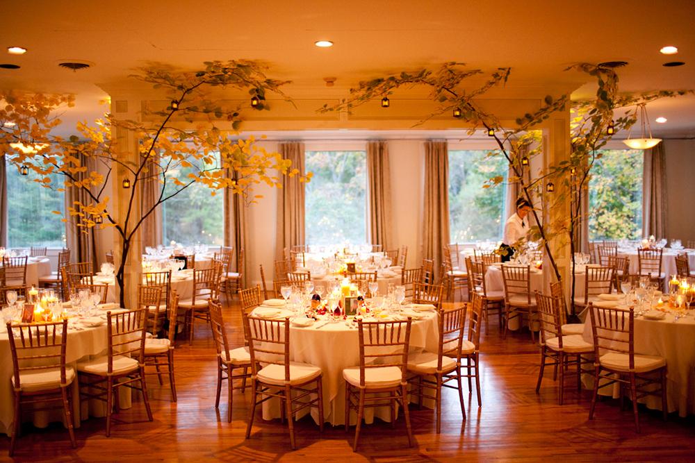Cranberry Gold Themed Wedding Reception
