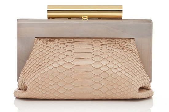 blush and gold luxe wedding clutch