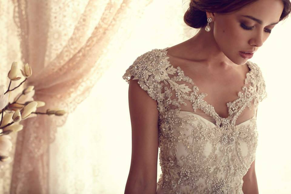 Carolina wedding dress by anna campbell for Anna campbell wedding dresses