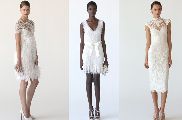 Little white wedding dresses by Marchesa