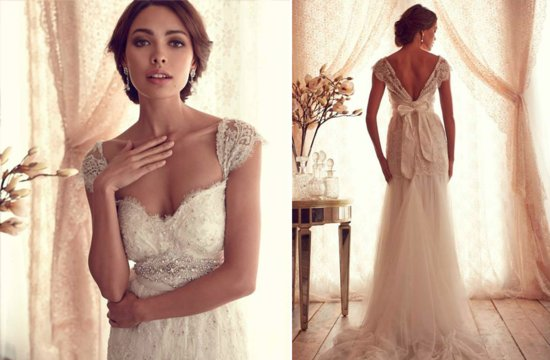 Sheer Statement Back Wedding Dress