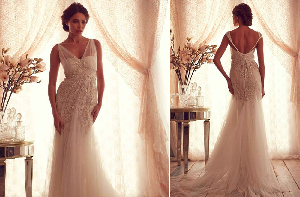Anna campbell wedding dress gossamer bridal collection 19 for French style wedding dresses
