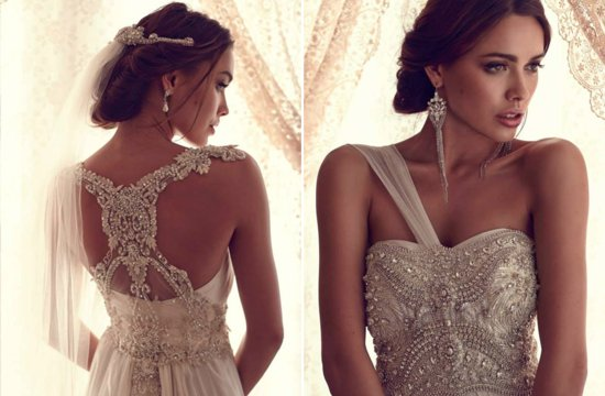 Statement Back Beaded Wedding Dress