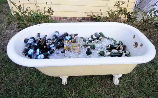 Vintage Wedding Reception Ice Cooler