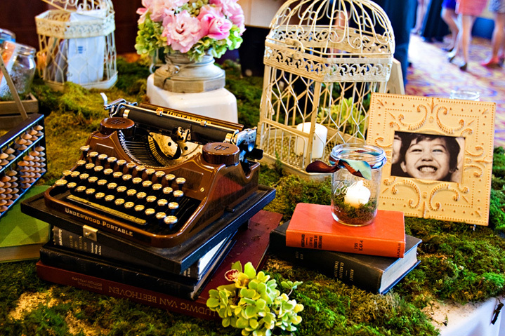 Wedding Decor with Vintage Flair