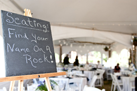 Vintage Chalkboard Wedding Reception Sign