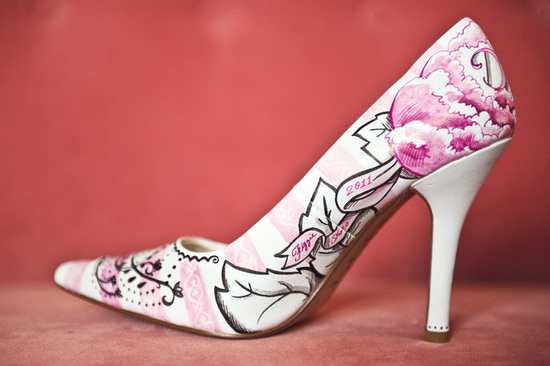 Floral Print Bridal Shoes