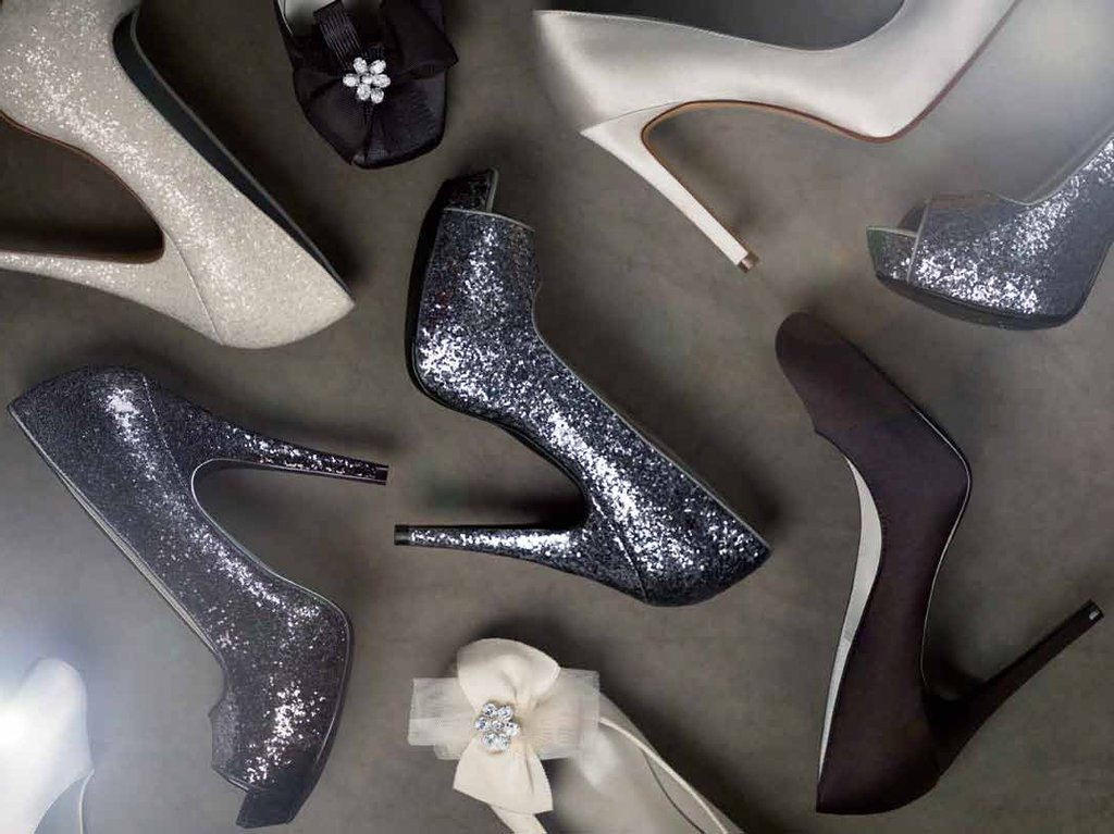 Sparkly platforms, elegant flats- White by Vera Wang wedding shoes