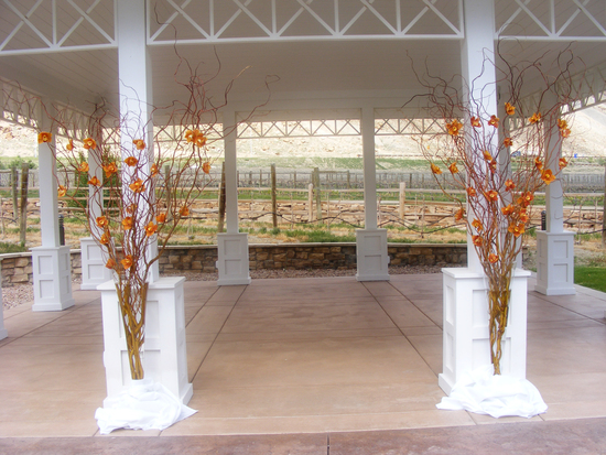 Simple Fall Wedding Venue
