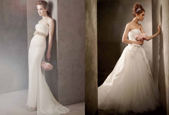 Romantic wedding dresses, White by Vera Wang