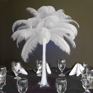tower vase feather