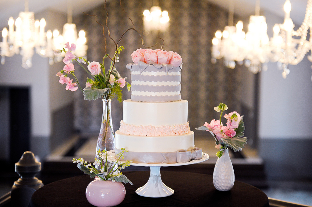 Romantic Pastel Wedding Cake