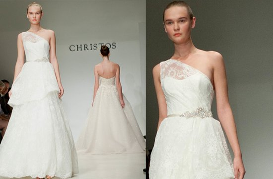 Christos lace wedding dress