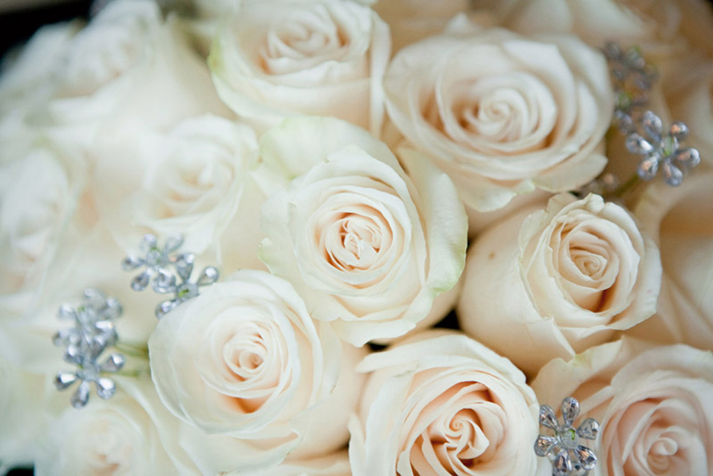 Romantic Bridal Bouquet Jeweled Accents