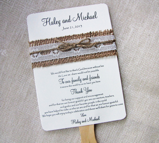 Rustic DIY Wedding Invitation