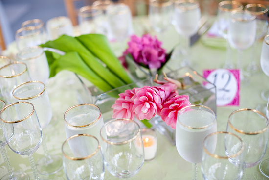 Romantic Ginger Floral Wedding Centerpiece