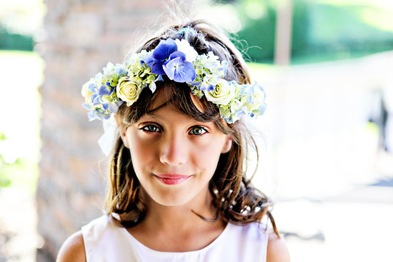 Romantic flower girl floral crown