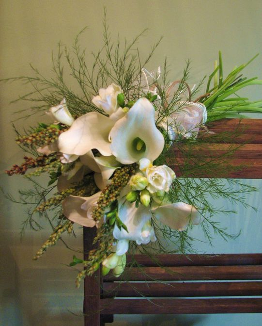 harvest cala lilly bouquet