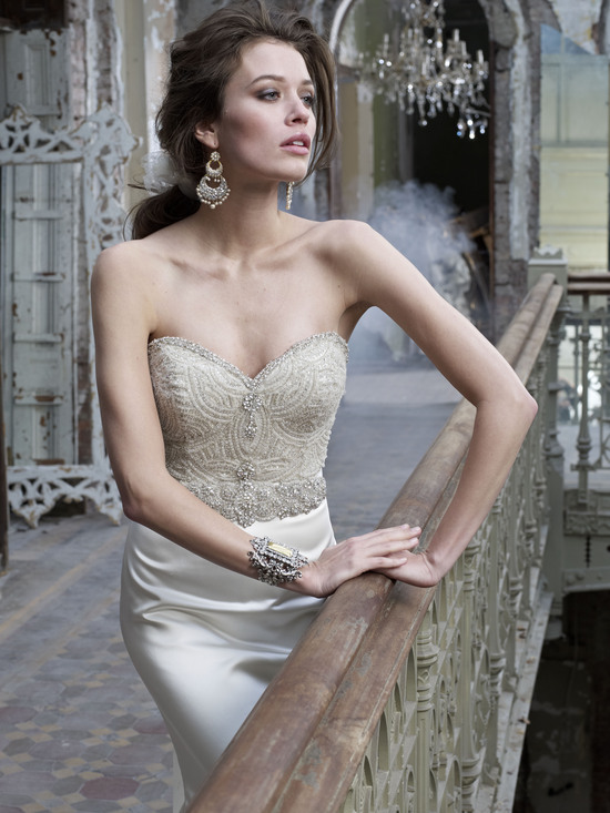 Elegant Beaded Wedding Dress