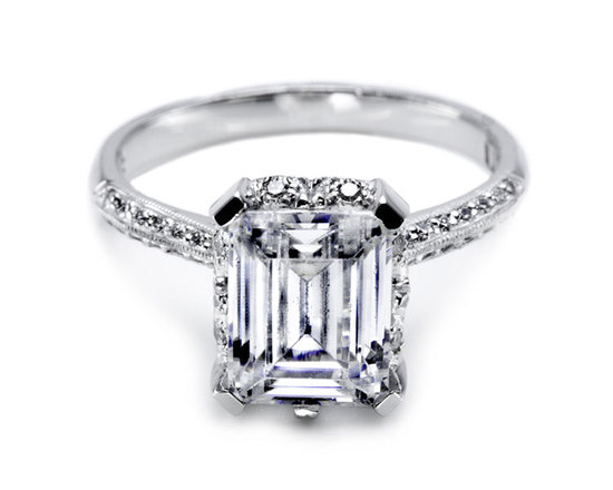 Emerald cut Tacori engagement ring