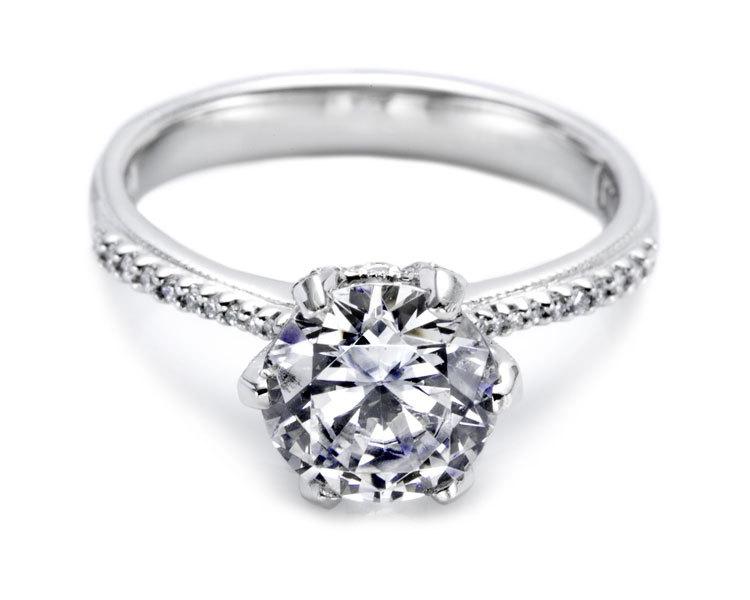 round tacori engagement ring