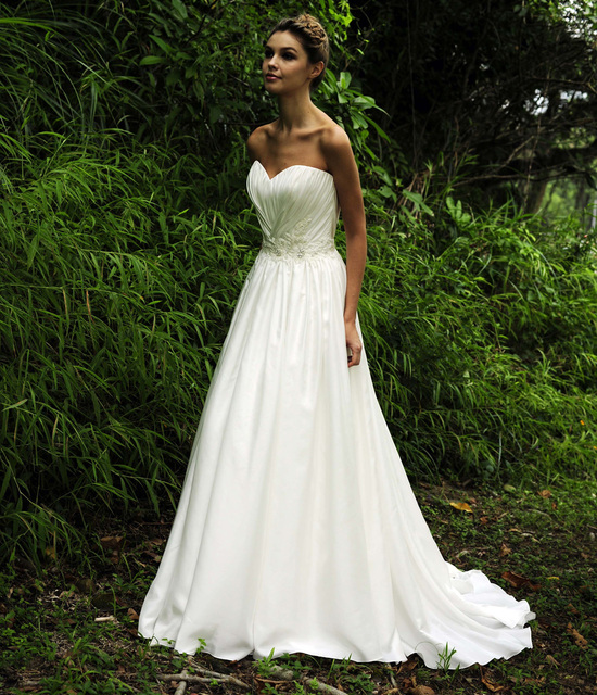 White Simple Wedding Dress