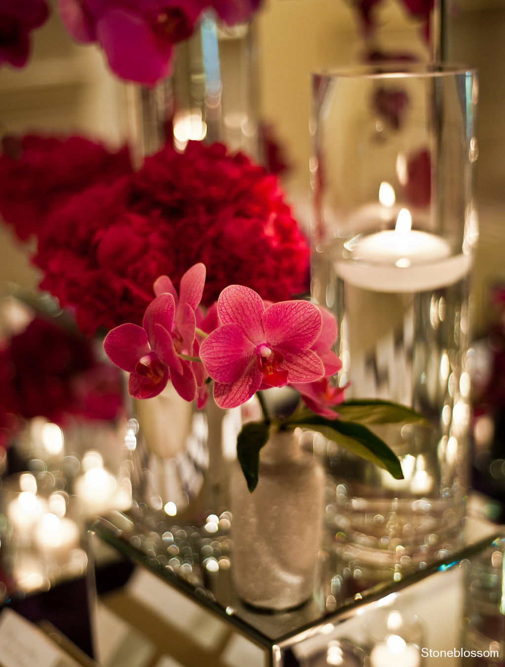 Purple orchid wedding flowers