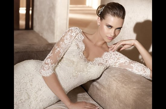 photo of Elie Saab wedding dress