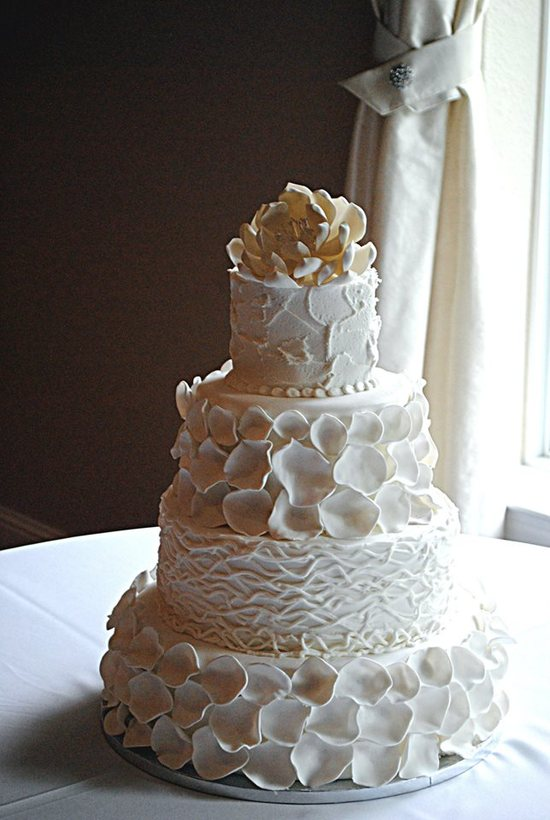 Rose Petals And Twigs Rustic Wedding Cake